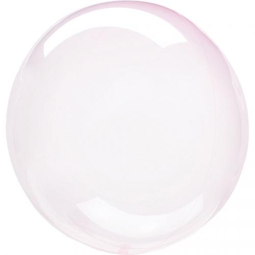 Petit Ballon Gonflé à l Hélium Crystal - Rose