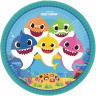 8 Assiettes Baby Shark Jaune