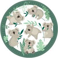 Contient : 1 x 8 Assiettes Koala