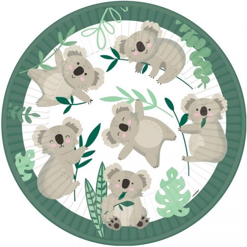 8 Assiettes Koala