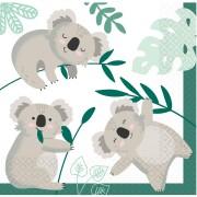 16 Serviettes Koala