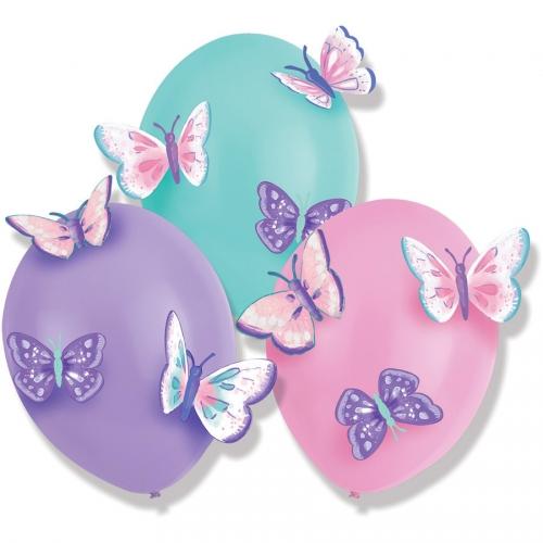3 Ballons Papillon Vintage