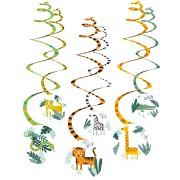 6 Guirlandes Spirales Animaux de la Jungle
