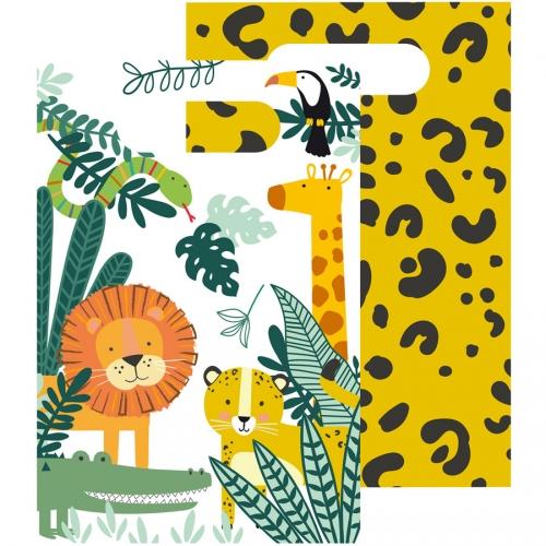 8 Pochettes Cadeaux Animaux de la Jungle