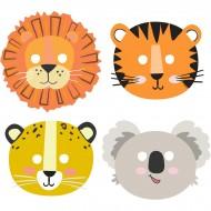 8 Masques Animaux de la Jungle