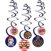 6 Guirlandes Spirales Pirate
