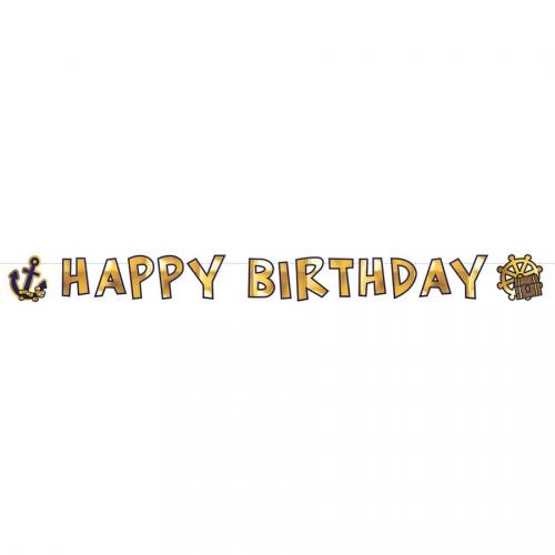 Guirlande Lettres Happy Birthday Pirate