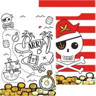 8 Pochettes Cadeaux Pirate