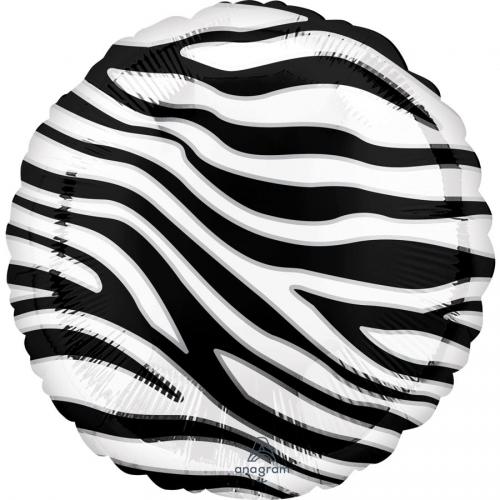 Ballon à plat Zèbre - Ø43 cm