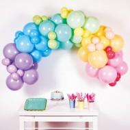 Kit Arche 78 Ballons Rainbow Pastel