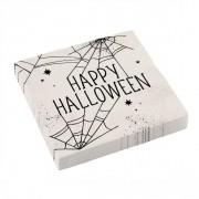 16 Serviettes Halloween Toile D'Araignée