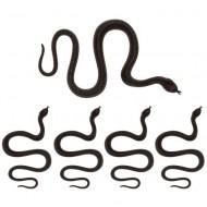 5 serpents Noirs (35 cm) - Plastique