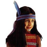 Perruque d'Indien avec bandeau � plume (enfant)