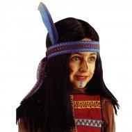 Perruque d'Indien avec bandeau à plume (enfant)
