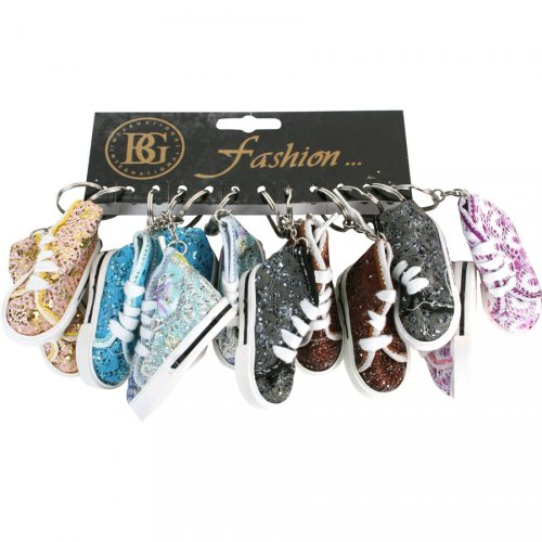 Porte clefs baskets paillettes