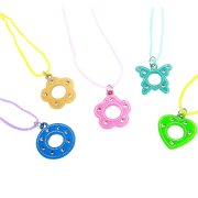 4 Colliers pendentif brillant