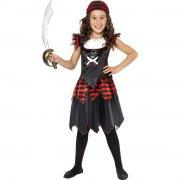 D�guisement de Pirate Gothique Fille