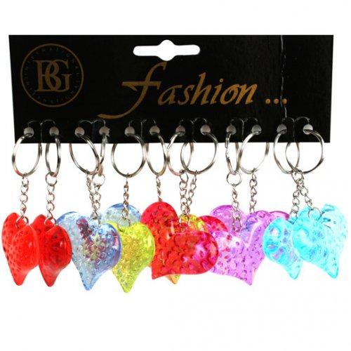 2 Porte-clés Coeur Cristal