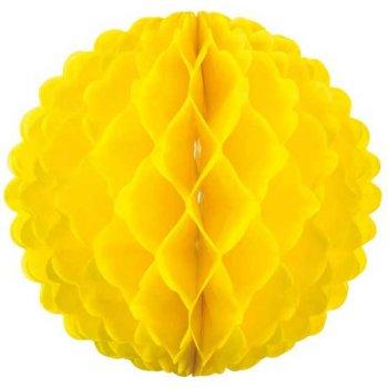 Boule Papier 3D Jaune