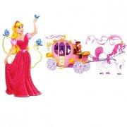 Set de 2 Décors Princesse et Carrosse