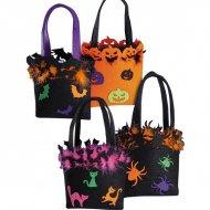 Mini-sac Halloween Feutrine à Plumes