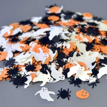 Confettis Halloween Orange/Noir/Blanc