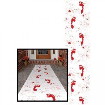 Tapis d entrée Empreintes pieds sanglant