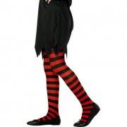 Collants de sorci�re Rouge/Noir