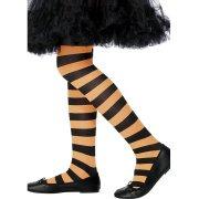 Collants de sorci�re Orange/Noir