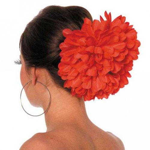 Grosse Fleur sur Barrette Rouge