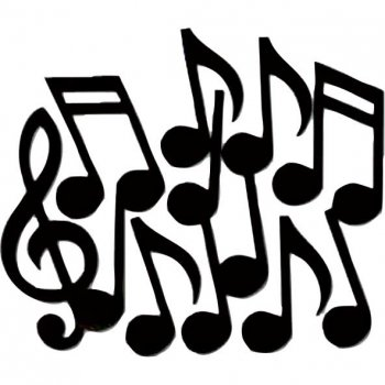 Lot de 12 Notes de Musiques XL