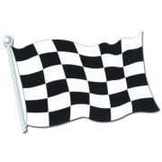 Drapeau en carton Formule 1