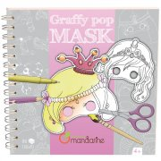 Livre 35 Masques Fille � colorier