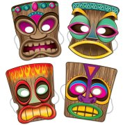 4 Masques Totem Beach Party