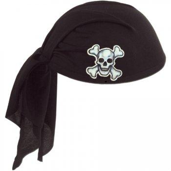 Chapeau Coiffe de Pirate Noir