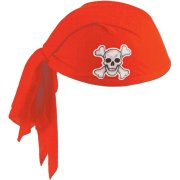 Chapeau Coiffe de Pirate Rouge