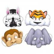 4 Masques Animaux de la Jungle