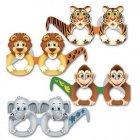 12 Masques Lunettes Animaux de la Jungle