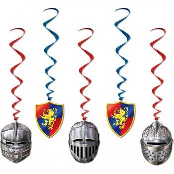 5 Guirlandes Spirales Chevalier Médiéval