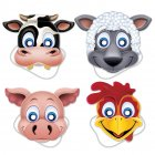 4 Masques Animaux de la Ferme