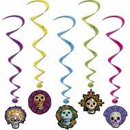 5 Guirlandes Spirales Jour des Morts Mexique