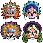 4 Masques Jour des Morts Mexique
