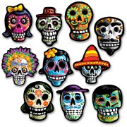 10 Petites D�corations Jour des Morts Mexique