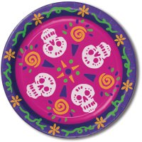 Contient : 1 x 8 Assiettes Jour des Morts Mexique