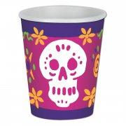 8 Gobelets Jour des Morts Mexique