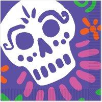 Contient : 1 x 16 Serviettes Jour des Morts Mexique