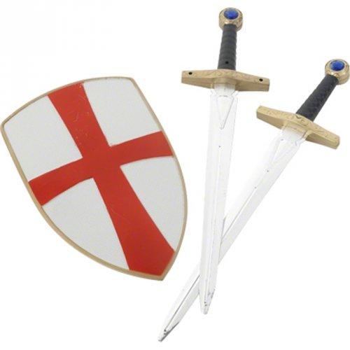 Set de Chevalier avec Bouclier et 2 Epées