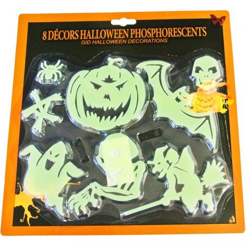 8 Décors Halloween Phosphorescent