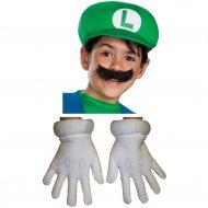 Set Accessoires Luigi (Casquette, Moustache, Gants) - Enfant