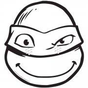 Masque Tortue Ninja Donatello à colorier